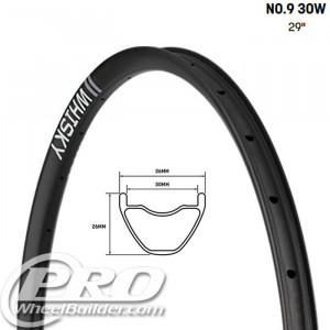 WHISKY NO9 30W 29 IN CARBON DISC RIM
