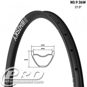 WHISKY NO9 36W 27.5 IN CARBON DISC RIM