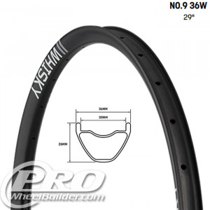 WHISKY NO9 36W 29 IN CARBON DISC RIM