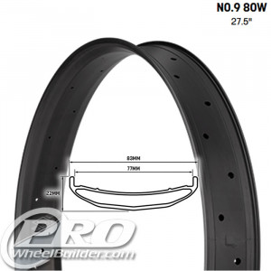 WHISKY NO9 80W 27.5 IN CARBON DISC RIM