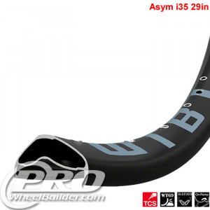 WTB ASYM TCS I35 29 IN BLACK RIM