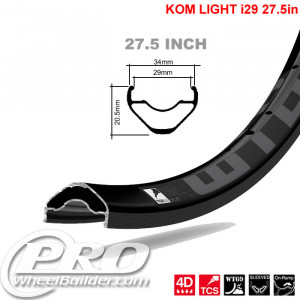 WTB KOM LIGHT TCS I 29 27.5IN BLACK RIM