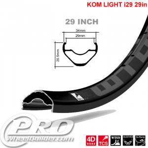 WTB KOM LIGHT TCS I 29 29IN BLACK RIM