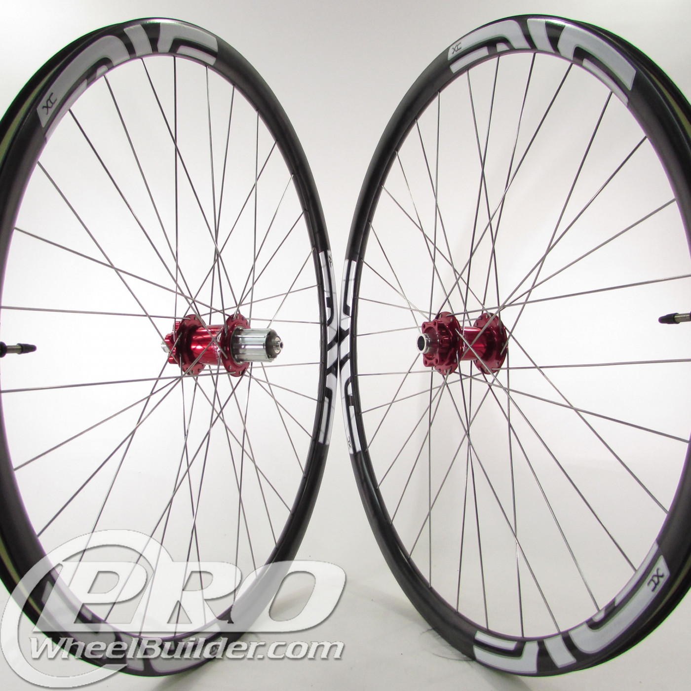 enve xc blk rims chris king iso red hubs sapim leader silver spokes 1