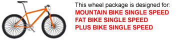 Single Speed MTB Wheel Package