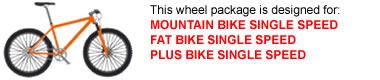 Single Speed MTB Wheel Package