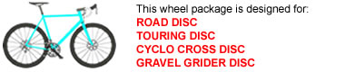 Road Disc Bike Wheel Package